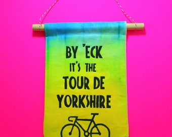 Yorkshire Cycling Decoration Wall hanging decor Tour de Yorkshire
