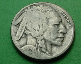 1924-S  Buffalo Nickel Very Good / Fine  FREE SH In United States # ET121