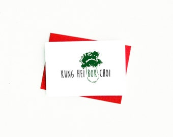Funny Chinese New Year Card...Chinese Card...CNY 2017....Kung Hei Fat Choi...Chinese New Year...Food Card...Lunar New Year...Chinese Food