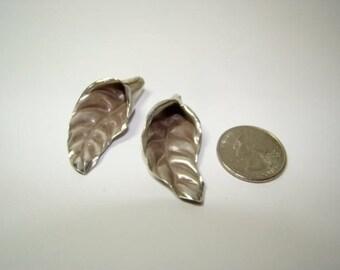 Destashing Sterling Silver Large Leaf beads 11.0Grams Fun Design Great Price!