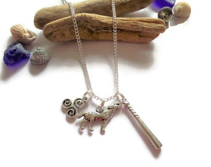 TEEN WOLF inspired silver alloy charm necklace fan gift Scott Mccall Stiles Fan Jewellery Uk