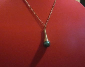 Teal Dome Necklace