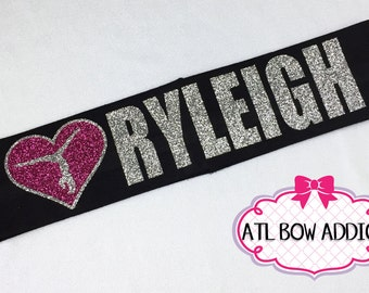 Gymnastics Headband with Name - Pick your colors!
