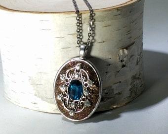 Sapphire Burst Necklace