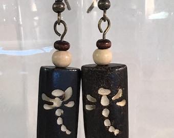 Dragon Fly Wooden Earrings