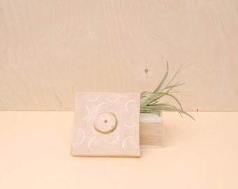 Taupe Cube Incense Holder / Modern Home Decor / Modern Incense Burner