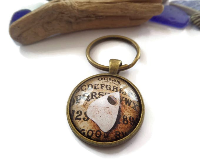 Ouija board keyring, supernatural gift, ouija board gift, spirit board gift, novelty gift, occult keyring, haunted house gift, sandykissesuk