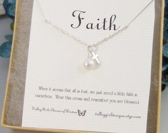 Faith,Necklace,Bracelet, Necklace,Silver,Cross,Religious,Cross Necklace,Mourning,Mourning, valleygirldesigns.