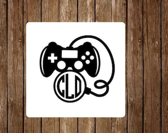 Gamer decal // monogram gamer decal // Playstation decal // XBox decal // Yeti decal // Car decal // monogram decal // personalized decal