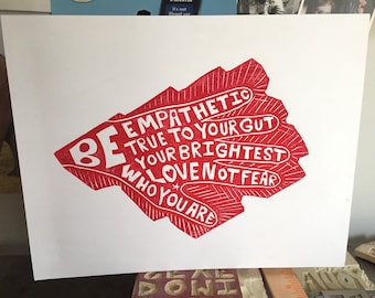 5 Bes of Be Who You Are Original Print