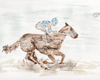 Derby Horse, Kentucky Derby, Watercolor, Churchill Downs