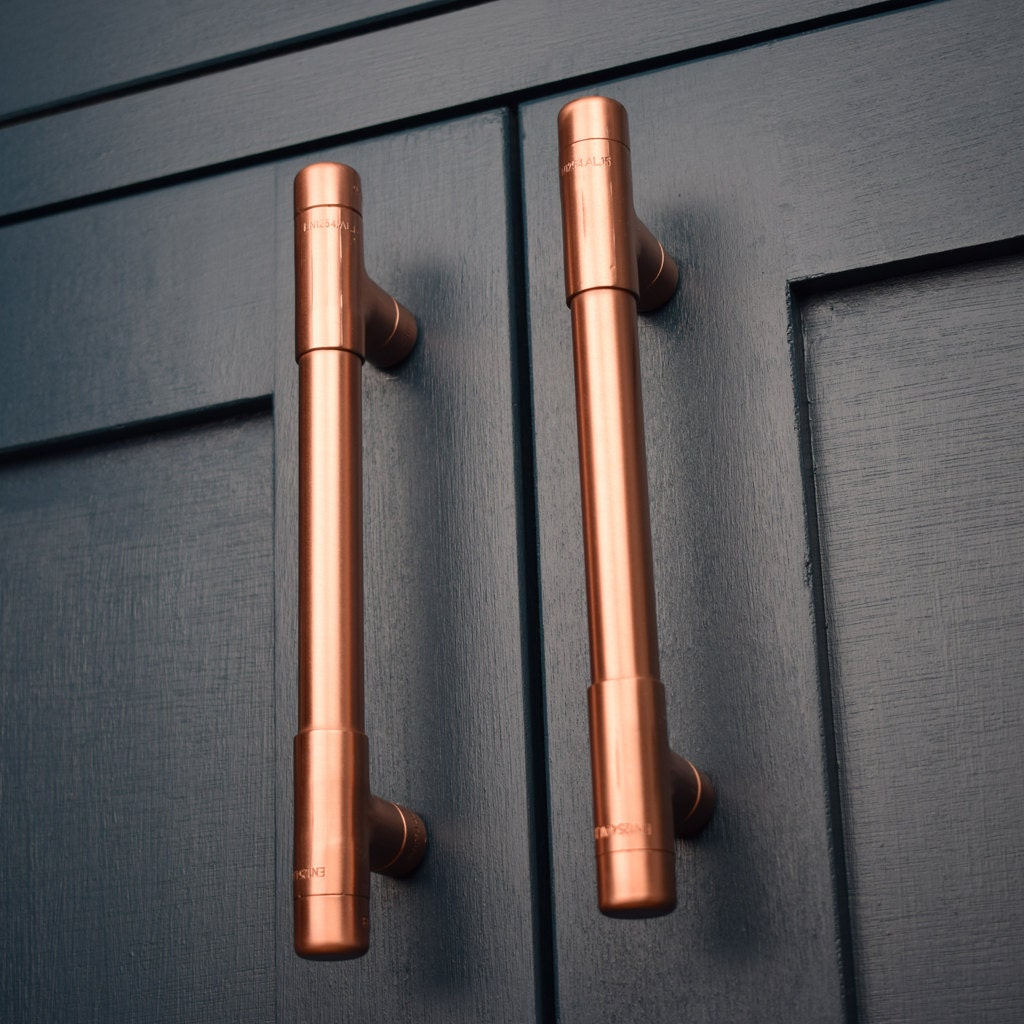 Modern Copper T Pull Handle Drawer Cabinet Hardware