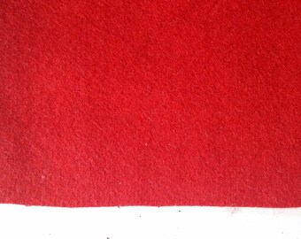 Recycled broadcloth- red