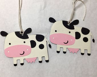 Baby Cow - Pink - Gift Tags - Free shipping -  Set of 6