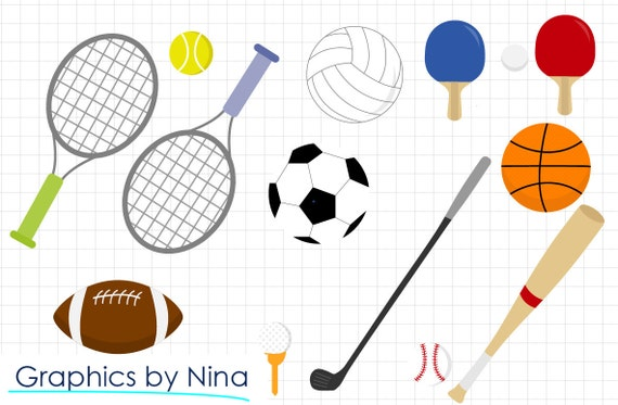 instant download sports clipart scrapbook for personal and rh etsystudio com Scrapbook Supplies Clip Art Scrapbook Supplies Clip Art