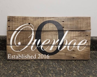 Custom Name Sign, Wedding Gift Sign, Last Name Sign, Personalized Wood Sign, Rustic Sign, Established Date Sign, Family Name Sign,