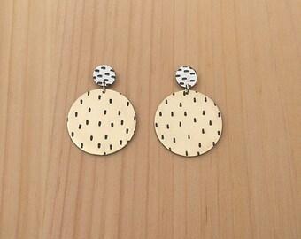 fancy stitch studs | stud earrings | statement earrings | jewelry for her