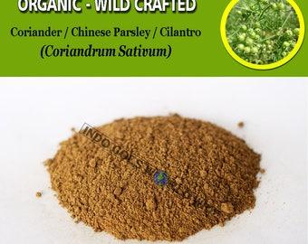 POWDER Coriander Cilantro Chinese Parsley Coriandrum Sativum Organic WildCrafted Fresh Natural Herbs FREE SHIPPING
