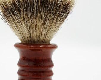 Wet shaving badger shave brush