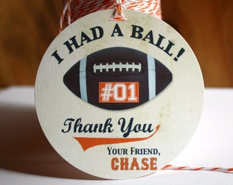 FOOTBALL Gift Tags - Reserved for Laura