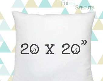 """Faux Down Pillow Inserts, Soft Throw Pillows, Pillow Cushions, Couch Pillows, Throw Pillow Inserts, 20x20"""""""