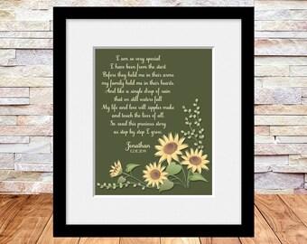 ADOPTION Wall Print, Adoption Gift, Adoption Wall Art, Adopting, Nursery Decor, I Am So Very Special