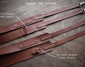 Leather Camera Strap/Free Engraving Camera Strap/Nikon, Canon Camera Strap /SLR, DSL Camera strap/Photographer gift