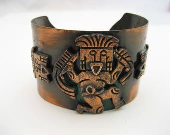 Vintage Copper Bracelet Copper Band Bracelet Vintage Copper Adjustable Bracelet Southwest Bangle Bracelet