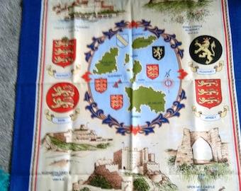 Unused Vintage Channel Islands Castles Tea/Dish Towel