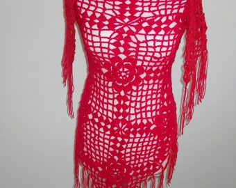 hand knitted lace shawl