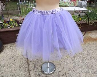 Beautiful Lilac Tulle Petticoat Brocade Under Slip Petticoat  M/L