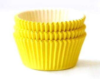 Solid Yellow Cupcake Liners