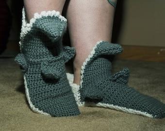 Womens Crochet Shark socks