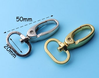 6pcs Bag Clasps Snap Hook Lobster Swivel Trigger Clips Snap Hook Swivel Trigger Clips Snap Hook for 20mm inner diameter