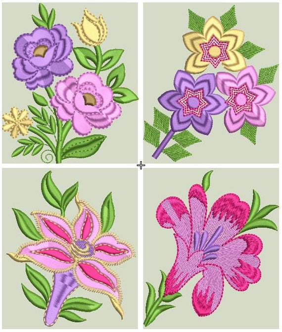 ROSETULIPSORCHIDSsunflower Embroidery Design Flowers Machine Instant Download Files From Paadarclub On Etsy Studio