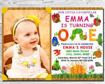 Eric carle invitations etsy very hungry caterpillar birthday invitation very hungry caterpillar invitation very hungry caterpillar invite filmwisefo Choice Image