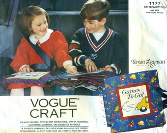 "Vogue 1177 CRAFT ""Games to Go"" Travel Game Book ©1993 Teresa Layman"