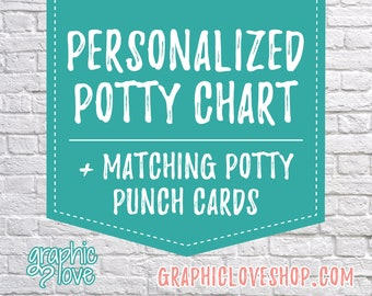Printable, Personalized Character Potty Training Chart, FREE Punch Cards | Boy, Girl, Disney Junior, Nick Jr, Marvel | Digital JPG Files