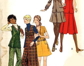 Butterick 5893 Misses' Jumper, Dress Or Tunic, Skirt And Pants  Size 12  B34  UNCUT
