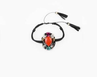 Swarovski Crystal string bracelet made in Italy