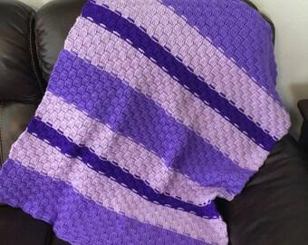 Purple baby girl blanket