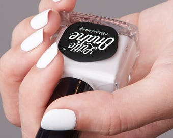 Little Ondine Natural Non-toxic Water-Based Quick Dry Fingernail Lacquer Peel off Nail Polish 10.5ml ( L000-Propose)Milky White
