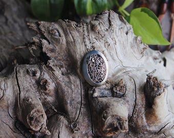 Irish clover collage pendant