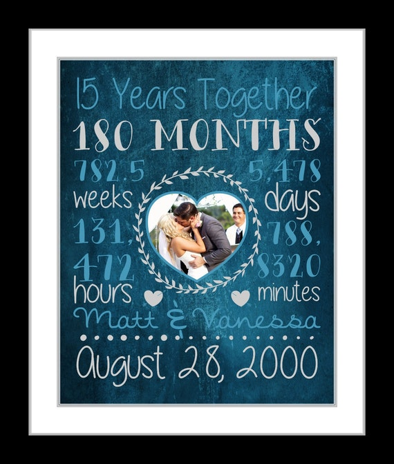 What Gift For 15th Wedding Anniversary: Any Or 15th Anniversary Gift For Husband Wife Boyfriend