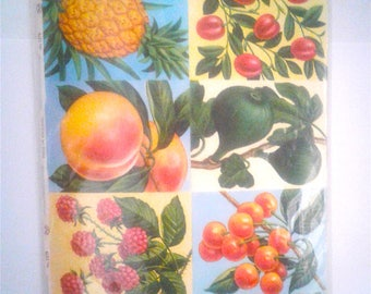 Vintage Fruit Paper Images