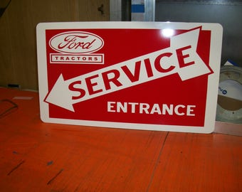 Ford tractors Double sided Metal sign 24x16 inch