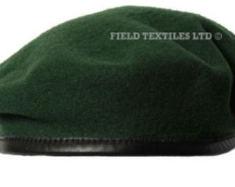 Green Knitted Wool Beret - Size Large - Genuine Issue - Uniform - NEW - E746