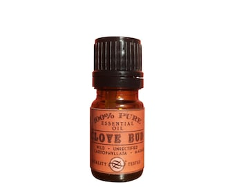 Clove Bud Essential Oil, Wild, Unrectified, Eugenia caryophyllata, Madagascar - 5 ml