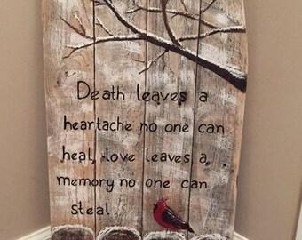 Cardinal heartache sign