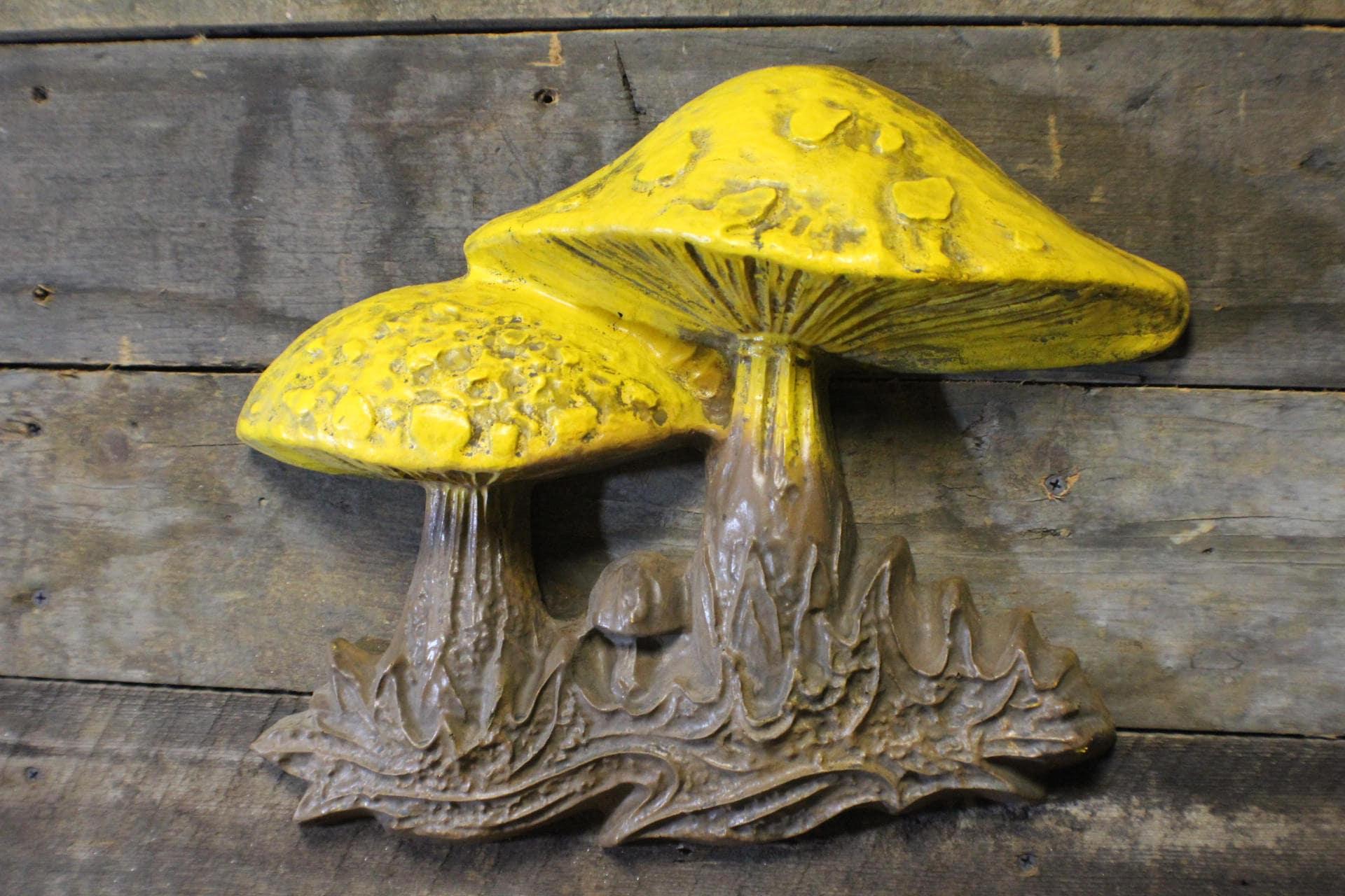 Merry Mushrooms Accent Wall Hanging Retro Mushroom Decor